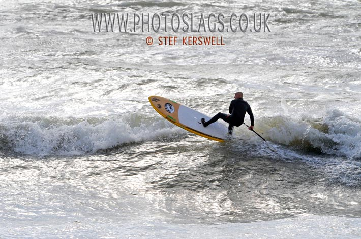 Jock Patterson getting air on a SUP!