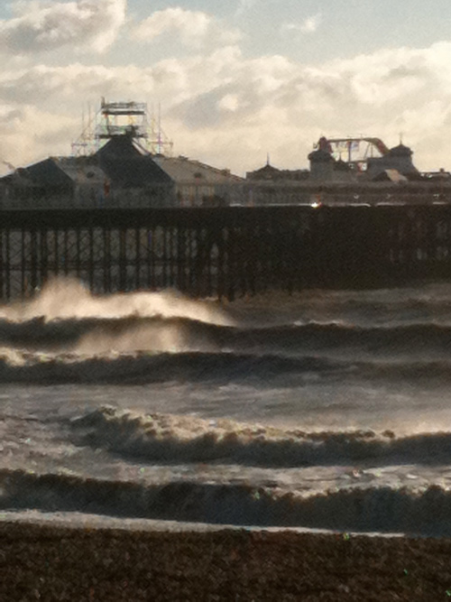 Palace Pier surfing