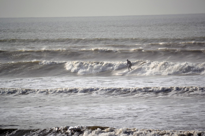 Early surfers at Bracklesham